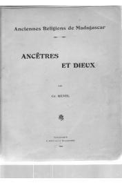 Bulletin de l'Académie Malgache - Tome V - 1920-1921, RENEL Charles - Anciennes religions de Madagascar: Ancêtres et Dieux