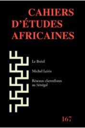 Cahiers d'études africaines - 167