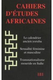 Cahiers d'études africaines - 181