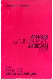 Annales de l'Université d'Abidjan Série F, Tome 7 (1978)