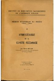 BELLAIR Pierre - Mission scientifique du Fezzân. Tome II : Hydrogéologie de la Cuvette fezzanaise