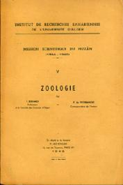 PEYERIMHOFF P. de, BERNARD F. et Alia - Mission Scientifique du Fezzân. Tome V : Zoologie