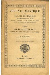 GADEN Henri - Note sur le dialecte Foul parlé par les foulbé du Baguirmi