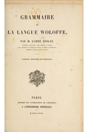BOILAT David, (Abbé) - Grammaire de la langue Woloffe