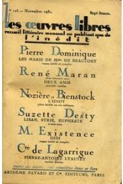 MARAN René - Deux amis