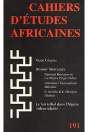 Cahiers d'études africaines - 191