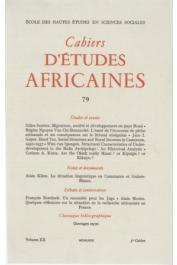 Cahiers d'études africaines - 079
