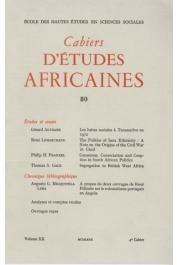 Cahiers d'études africaines - 080