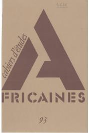 Cahiers d'études africaines - 093