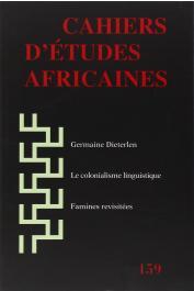 Cahiers d'études africaines - 159
