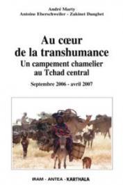 MARTY André, EBERSCHWEILER Antoine, DANGBET Zakinet - Au cœur de la transhumance. Un campement chamelier au Tchad central. Septembre 2006 - Avril 2007