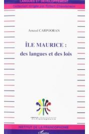 CARPOORAN Arnaud - Ile Maurice, des langues et des lois