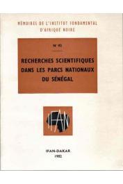 Collectif - Recherches scientifiques dans les parcs nationaux du Sénégal
