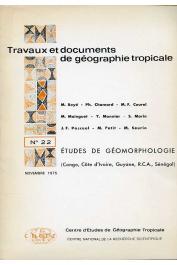 Collectif - Etudes de géomorphologie tropicale