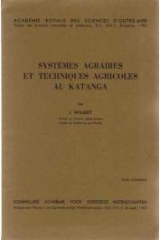WILMET J. - Systèmes agraires et techniques agricoles au Katanga