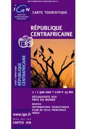 Centrafrique (République Centrafricaine) - Carte touristique au 1:1.500.000e