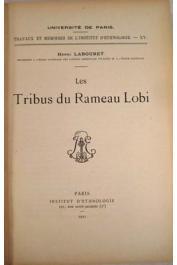 LABOURET Henri - Les tribus du rameau lobi