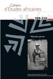 Cahiers d'études africaines - 209-210 Masculin Pluriel