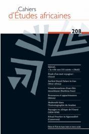 Cahiers d'études africaines - 208