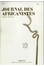 Journal des Africanistes - Tome 65 - fasc. 2 - 1996 - Archéologies en Afrique