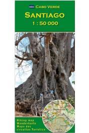 Cabo Verde - Santiago carte au  1:50.000 e