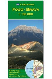 Cabo Verde- Fogo, Brava carte au  1:50.000 e