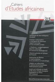 Cahiers d'études africaines - 215 Varia