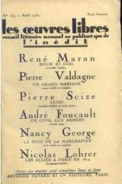 MARAN René, in Œuvres Libres n° 134 - Boum et Dog