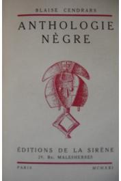 CENDRARS Blaise - Anthologie nègre