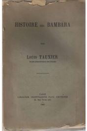 TAUXIER Louis - Histoire des Bambara