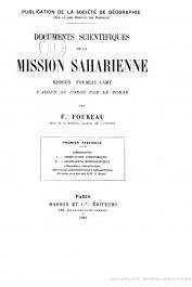 FOUREAU Fernand - Documents scientifiques de la Mission saharienne. Mission Foureau - Lamy