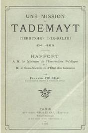 FOUREAU Fernand - Une mission au Tademayt (Territoire d'In Salah) en 1890