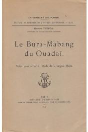 TRENGA Georges - Le Bura-Mabang du Ouadaï. Notes pour servir à l'étude de la langue Maba