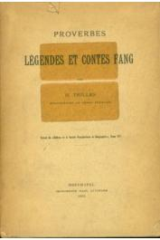 TRILLES Henri - Proverbes, légendes et contes fang (tiré à part Attinger 1905)
