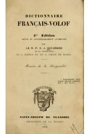 GUY-GRAND R.P. V.-J. (de la congrégation du Saint-Esprit) - Dictionnaire Français-Volof. 3eme édition revue et considérablement augmentée