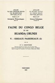 SCHOUTEDEN Henri Dr. - Faune du Congo Belge et du Ruanda-Urundi.  V - Oiseaux Passereaux (2)