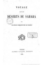 FOLLIE Adrien-Jacques - Voyage dans les déserts du Sahara ; par un officier d'administration aux colonies