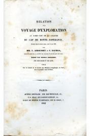 ARBOUSSET Thomas, DAUMAS François - Relation d'un voyage d'exploration au nord-est de la colonie du Cap de Bonne-Espérance entrepris dans les mois de mars, avril et mai 1836