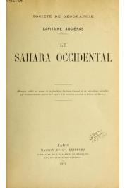 AUGIERAS Marcel (Commandant) - Le Sahara occidental