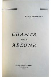 RABEARIVELO Jean-Joseph - Chants pour Abéone