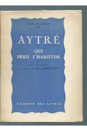PAULHAN Jean - Aytré qui perd l'habitude