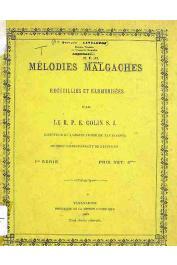 COLIN Elie R.P. s.j. - Mélodies malgaches recueillies et harmonisées par _____