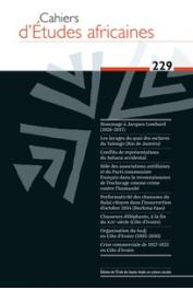 Cahiers d'études africaines - 229 - Varia