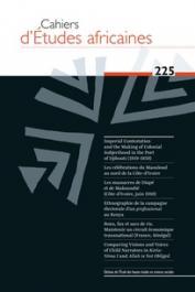 Cahiers d'études africaines - 225 - Varia