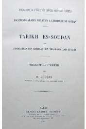 Abderrahman Ben Abdallah Ben Imran Ben Amir es-Sa'adi, HOUDAS O. - Tarikh es-Soudan
