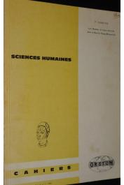 Cahiers ORSTOM - Série sciences humaines - Vol. II, n°1, VENNETIER Pierre - Les hommes et leurs activités dans le Nord du Congo-Brazzaville