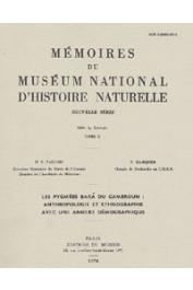 VALLOIS Henri-Victor, MARQUER Paulette - Les pygmées Bakà du Cameroun: Anthropologie et ethnographie avec une annexe démographique
