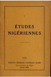 Etudes Nigériennes - 01, LE COEUR Charles - In Mémoriam Charles Le Coeur. Recueil d'articles sur les Toubous du Niger