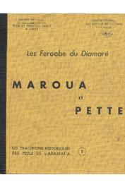 ELDRIDGE Mohammadou - Histoire des Peuls Feroobé du Diamaré. Maroua et Pette. Traditions recueillies, traduites et éditées par Eldridge Mohammadou
