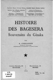 ARIANOFF A. d' - Histoire des Bagesera, souverains du Gisaka